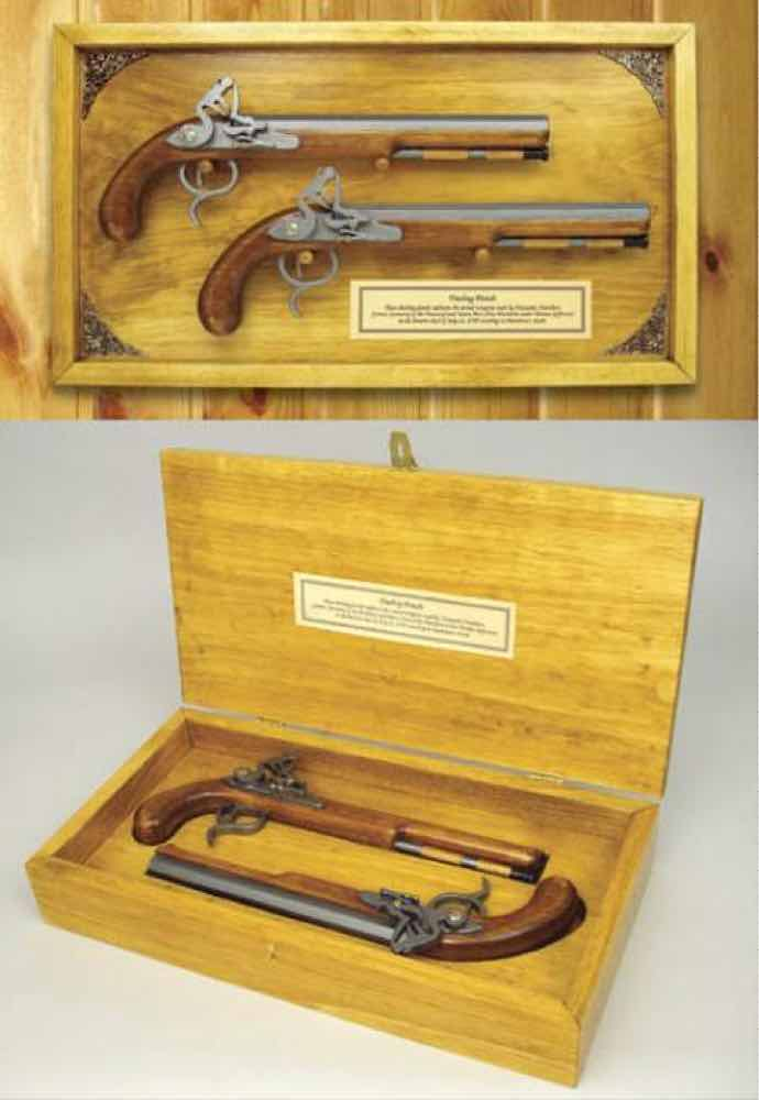 Dueling Pistol Guns Woodworking Plan.
