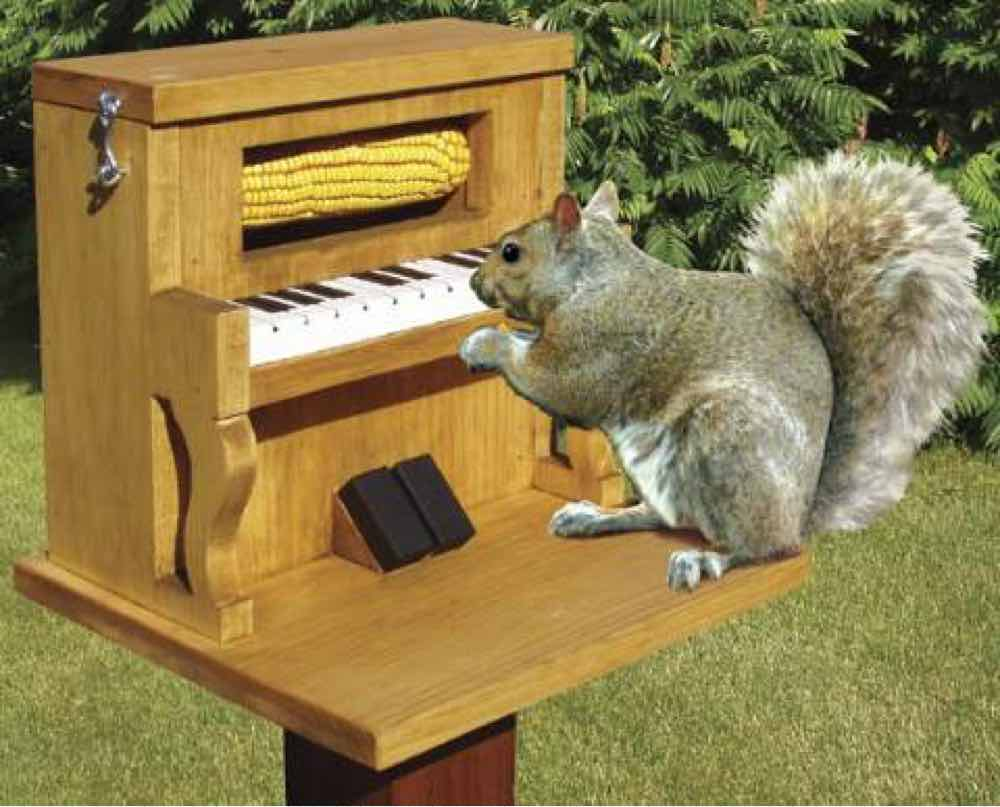 Piano Squirrel Feeder Woodworking Plan