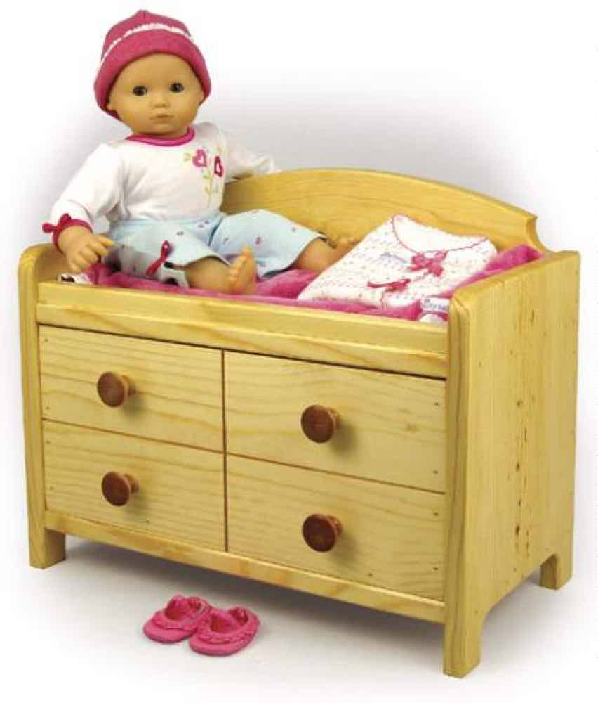 19-W3536 - Doll Changing Table Woodworking Plan