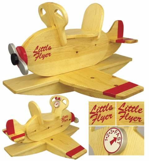 Airplane Rocker Woodworking Plan.