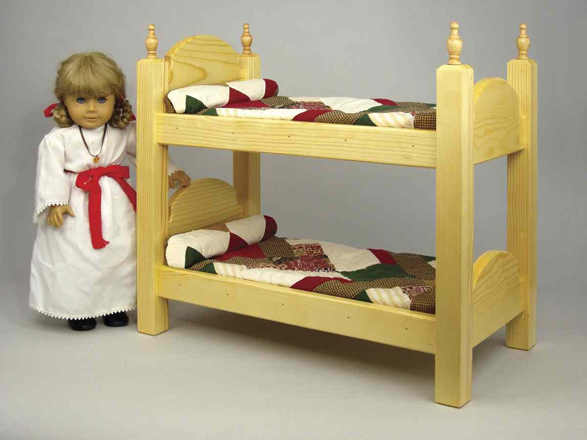 Doll Bunk Bed Woodworking Plan