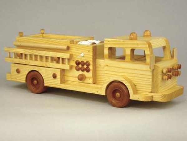 Fire Truck 1980s Style Woodworking Plan.