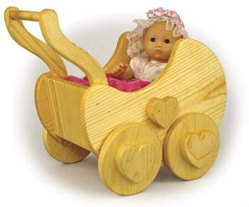 Doll Baby Buggy Woodworking Plan.