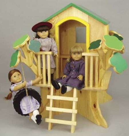 Doll Tree House Woodworking Plan.