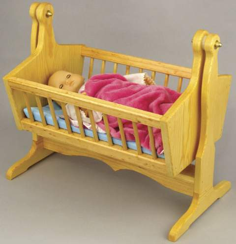 Swinging Doll Cradle Woodworking Plan.