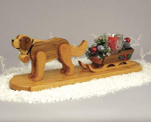 St. Bernard and Sled Woodworking Plan.