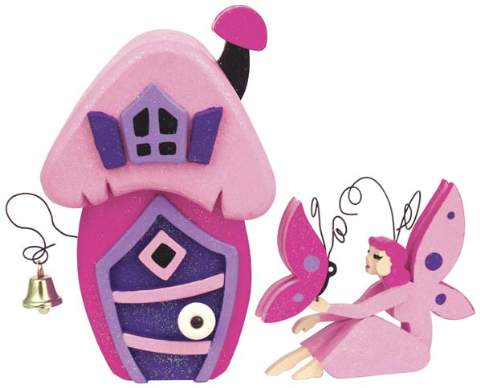Pink Fairy Cottage Woodworking Plan.