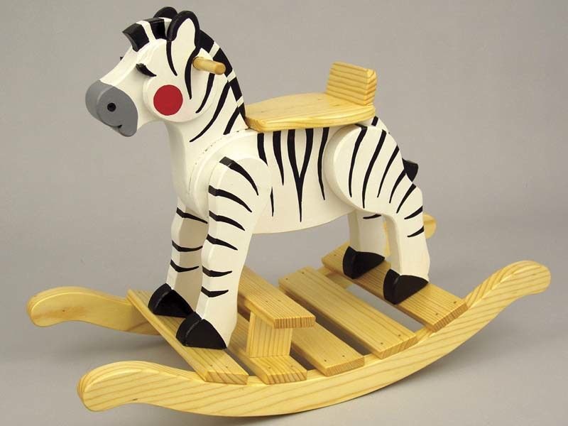 Zebra Rocker Woodworking Plan.