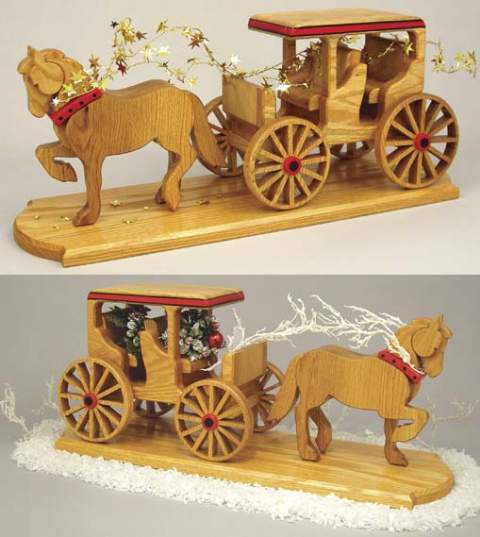 Horse and Buggy Woodworking Plan.