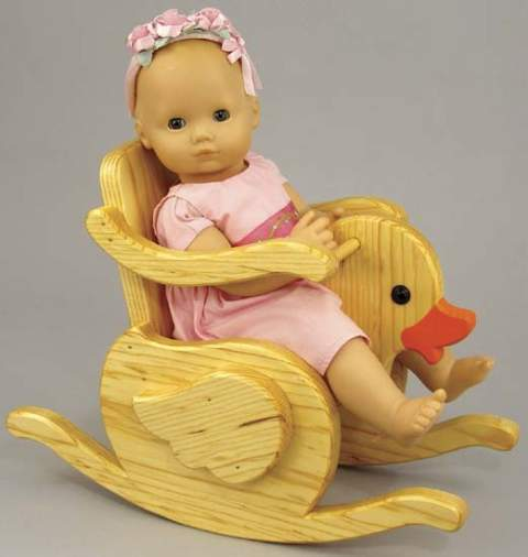 Baby Doll Duckie Rocker Woodworking Plan.