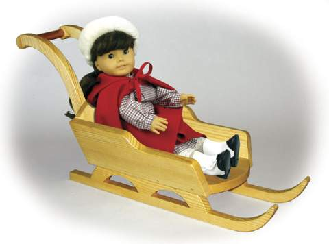 Doll Sled Woodworking Plan.
