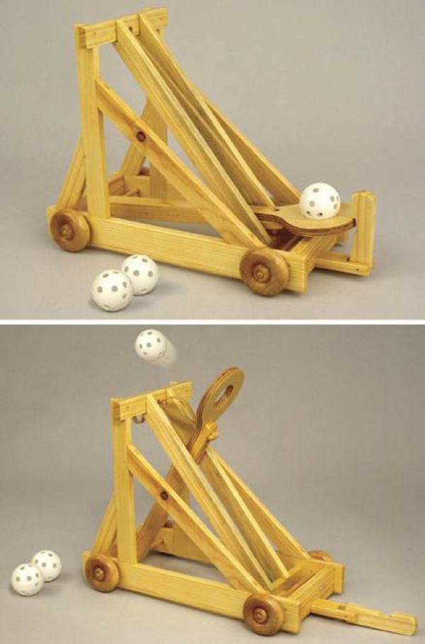 Desktop Catapult Woodworking Plan.