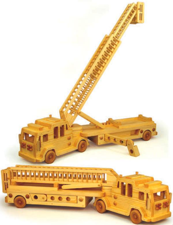 Ladder Fire Truck Woodworking Plan.