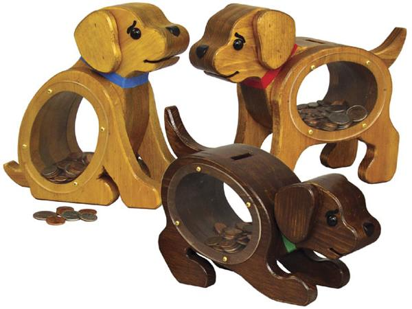 Puppy Coin Banks Woodworking Plan.