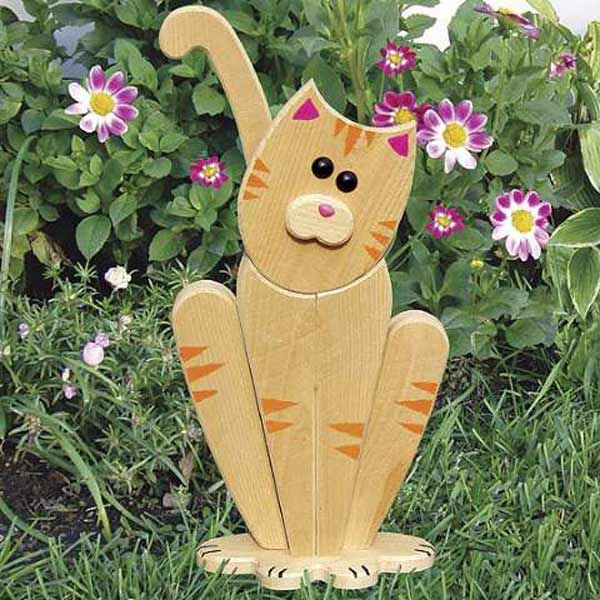 Garden Lookout Cat Woodworking Plan