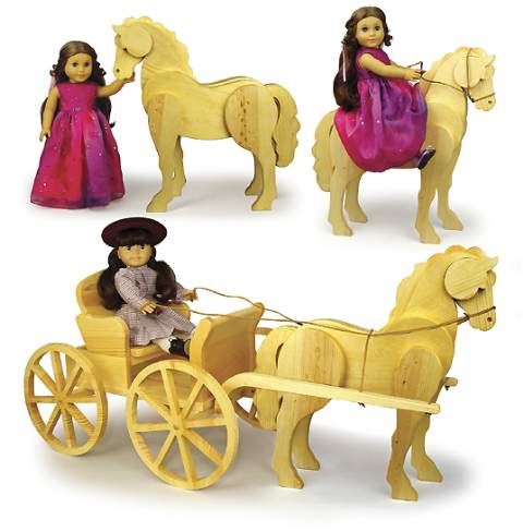 19-W3714 - Doll Carriage Horse Woodworking Plan.
