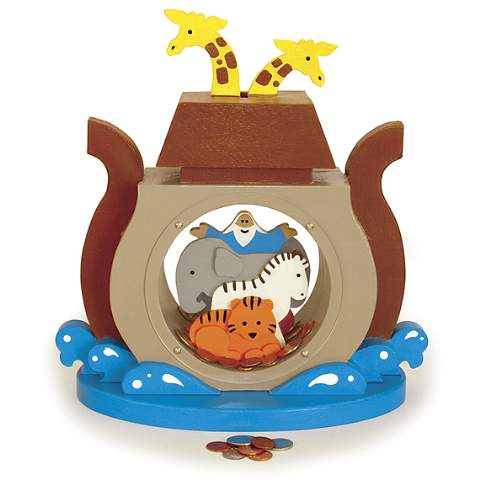 19-W3725 - Noahs Ark Coin Bank Woodworking Plan