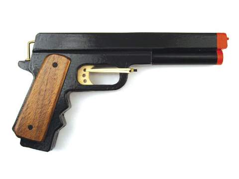 19-W3768 - Rubber Band Pistol Hand Gun Woodworking Plan.