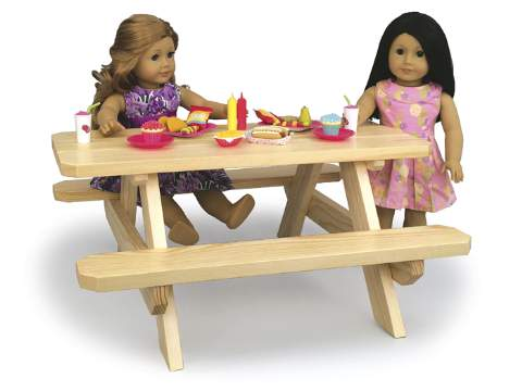 Doll Picnic Table Woodworking Plan