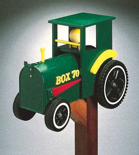 19-W533 - Tractor Mailbox Woodworking Plan.
