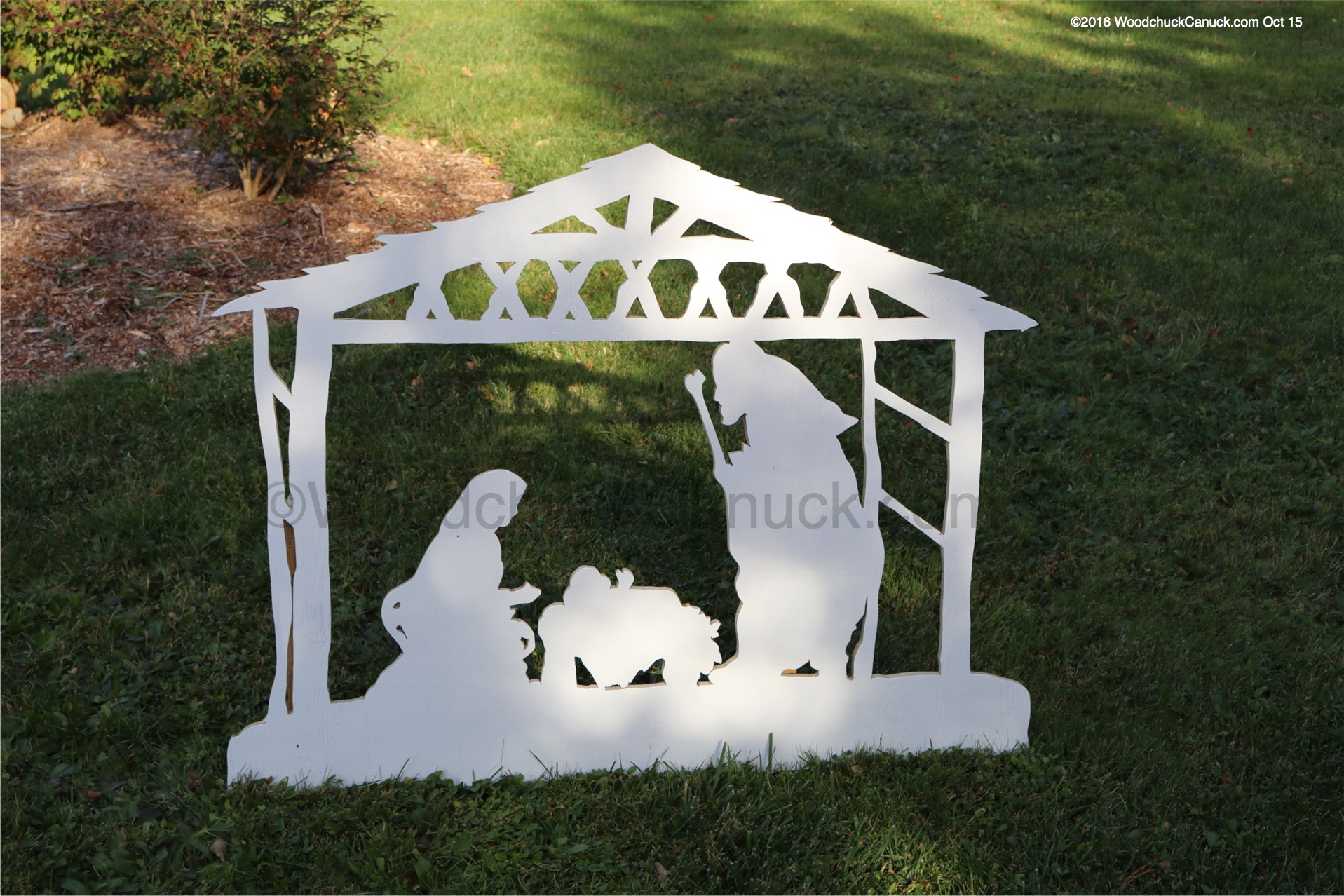 05-WC-1371 - Christmas Nativity Scene 2D Yard Art Woodworking Pattern