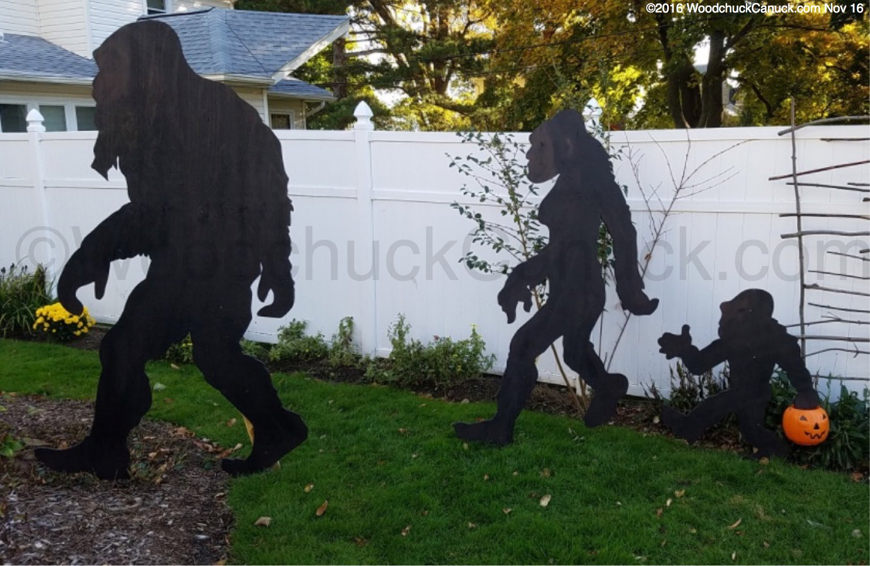 Bigfoot Sasquatch 7ft Tall Yard Art Woodworking Pattern