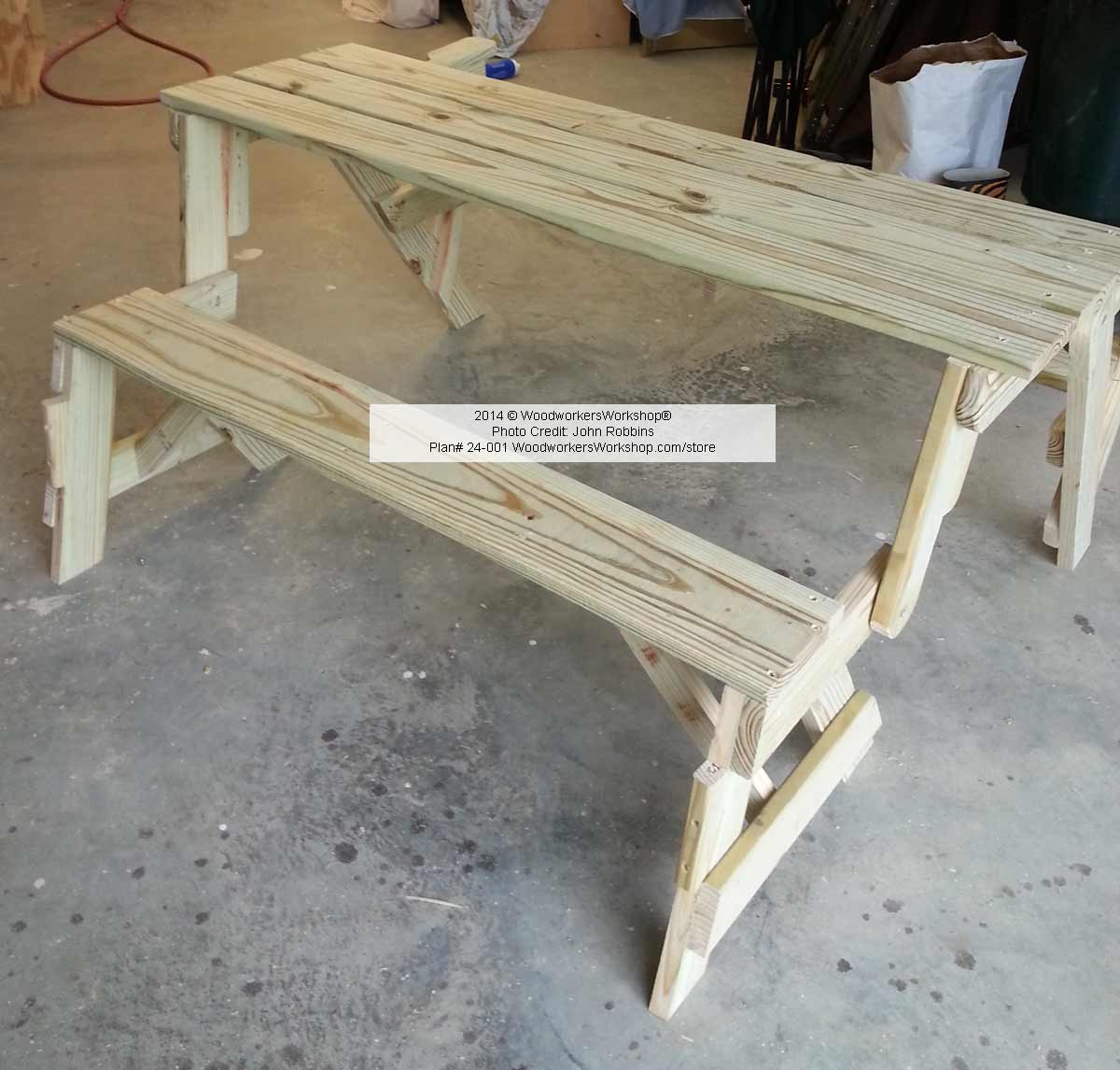 24-001 - Folding Bench and Picnic Table Combo (PDF) Woodworking Plan ...