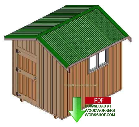 8x10ft Storage Shed Woodworking Plan