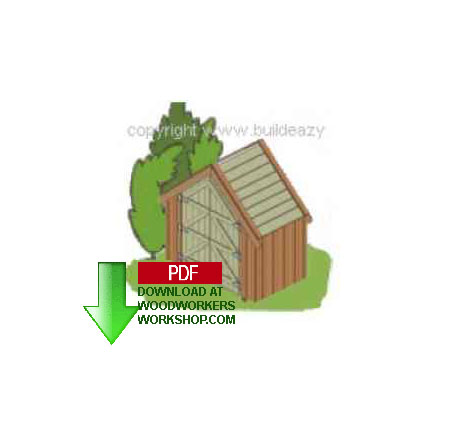 24-007 - How to Build a Narrow Shed Building Plan