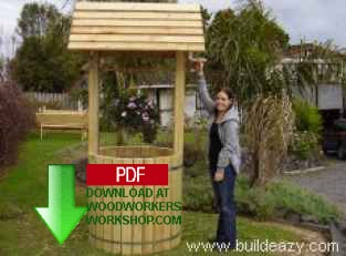24-010 - Giant Garden Wishing Well Downloadable Woodworking Plan PDF
