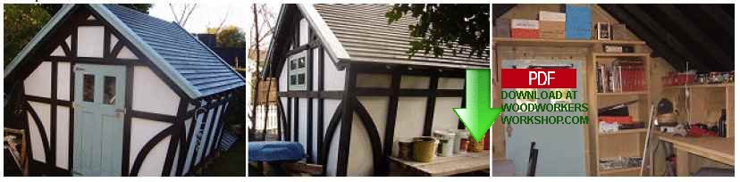 Storage Shed Tudor Style Construction Plan