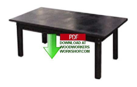 Coffee Table Woodworking Plan