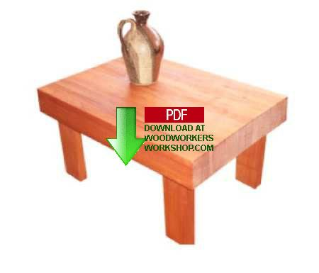 24-015 - Solid Wood Side Coffee Table Woodworking Plan
