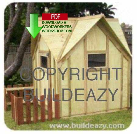 24-018 - How To Build A Kids Play Cottage Building Plan