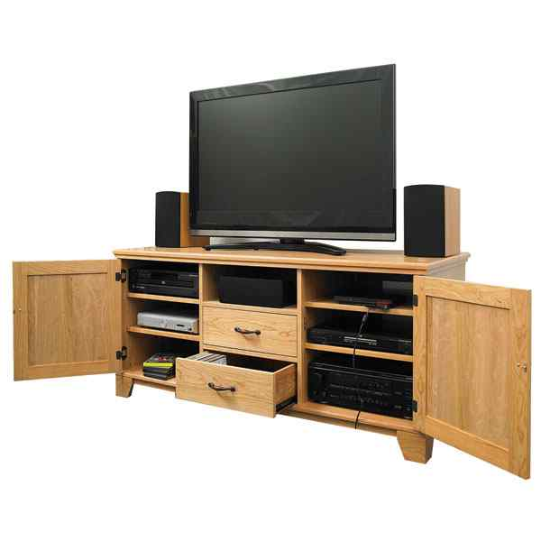28-148854 - FlatPanel TV Entertainment Center Woodworking Plan