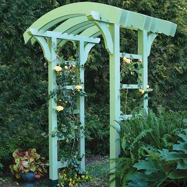 Garden Arbor and Gate Woodworking Plan