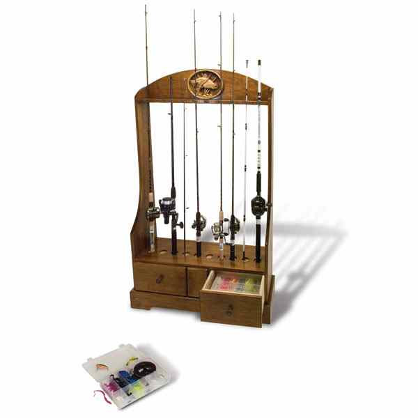 28-148862 - Rod, Reel and Tackle Stand Woodworking Plan