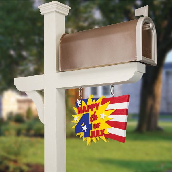 Celebration Mail Box with Seasonal Flags Woodworking Plan
