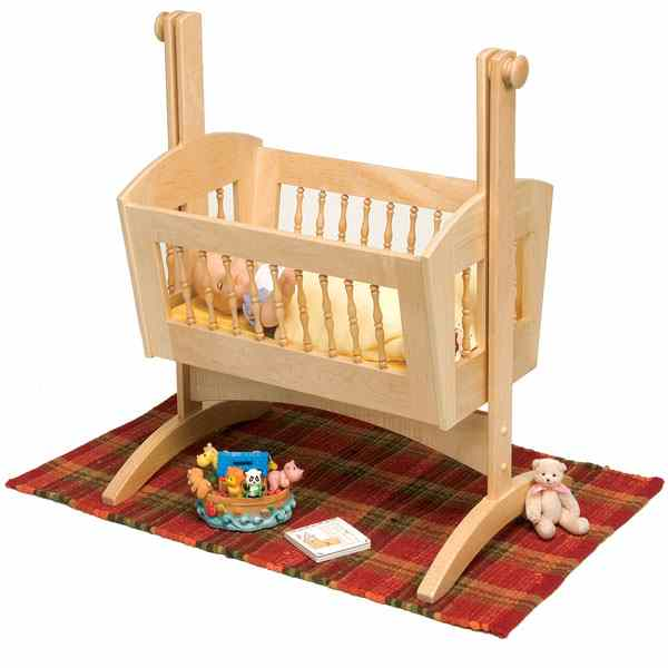 Pendulum Doll Cradle Woodworking Plan