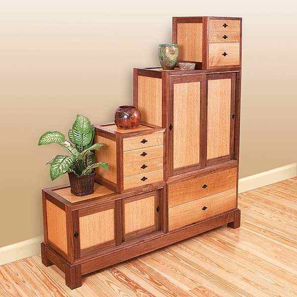 Box-on-Box Tansu Chest Woodworking Plan No23