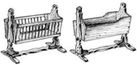 Mission American Cradles Woodworking Plan - 2 designs, 1 price