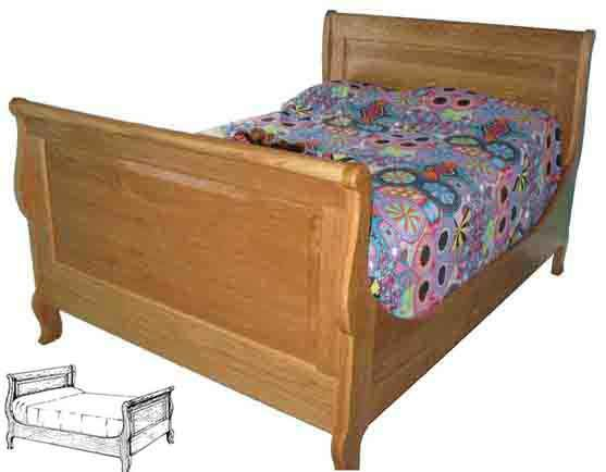 French-American Sleigh Bed Woodworking Plan