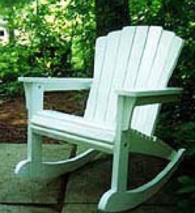 Rocking Adirondack Chair Woodworking Plan
