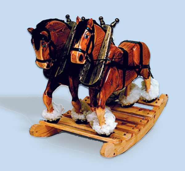 Clyde n Dale Rocking Horse Woodworking Plan
