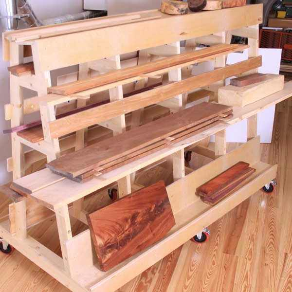 Lumber and sheet goods rack woodworking plan