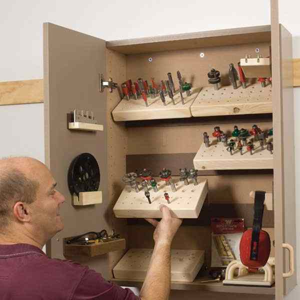 28-150727 - Router Bit Storage Cabinet Woodworking Plan