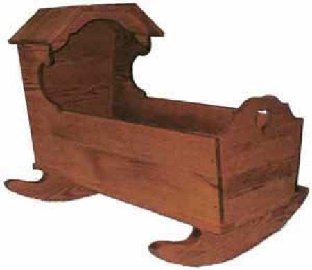Hooded Baby Cradle Woodworking Plan