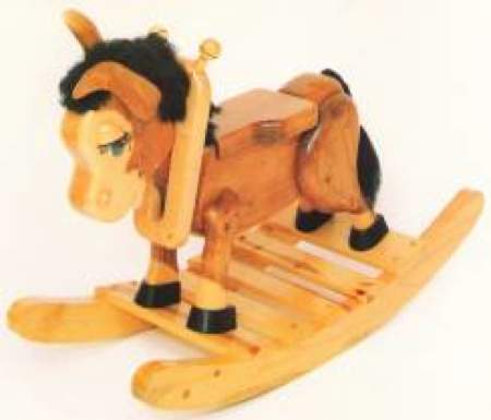 28-152001 - Beezer the Burro Rocking Horse Woodworking Plan.