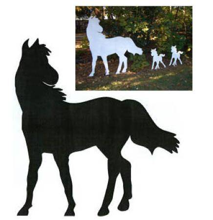 Large Horse Shadow Woodworking Plan