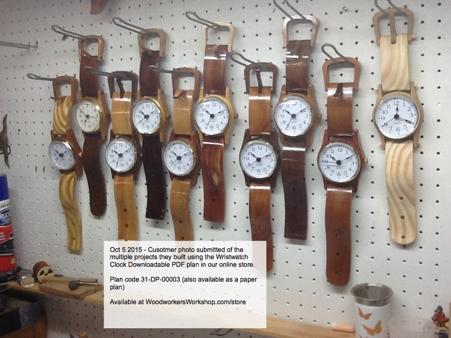 Wall Hung Wristwatch Woodworking Plan.
